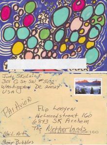 Mailart Judy Skolnick Soap Bubbles